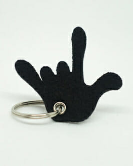 """Schlüsselanhänger aus Filz """"ILY Hand"""""""