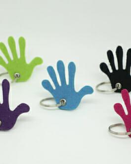 """Schlüsselanhänger aus Filz """"Hand voll"""""""