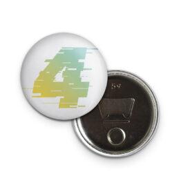 """Flaschenöffner-Button """"JF4"""" weiss"""