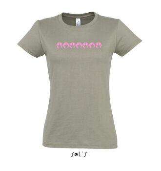 Damen Rundhals T-Shirt, Motiv ILY012