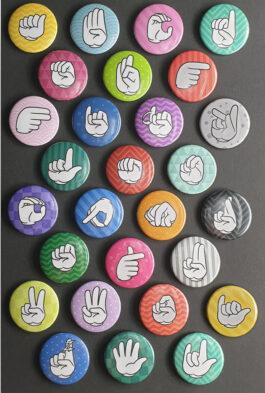 Fingeralphabet A-Z Magnet Set