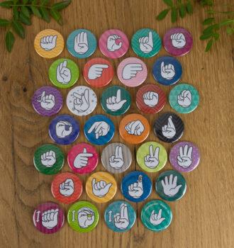 Fingeralphabet Magnet Set