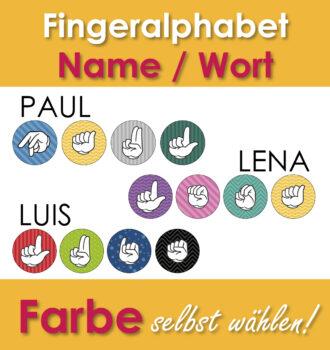 Fingeralphabet personalisiert