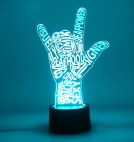 LED Base ILY Spruch01
