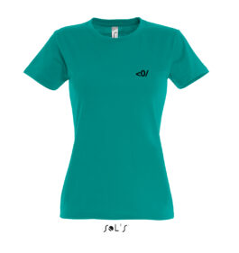 Damen Rundhals T-Shirt, Motiv DEAFPOWER 02