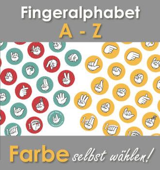 A-Z in Fingeralphabet personalisiert